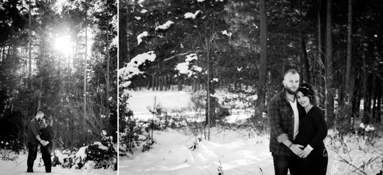 Photographe Monistrol sur Loire Séance grossesse neige haute loire